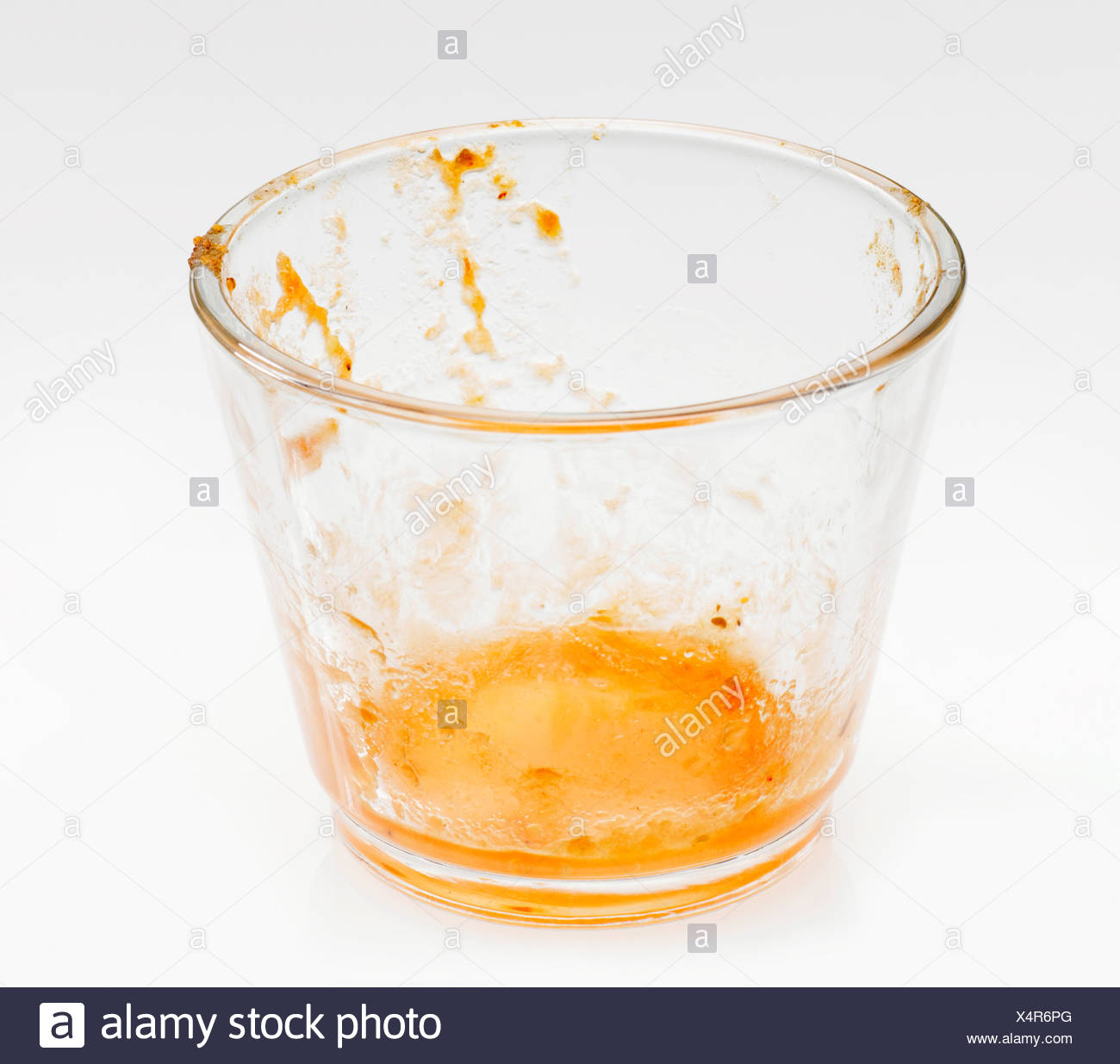 Dirty glass - Stock Image