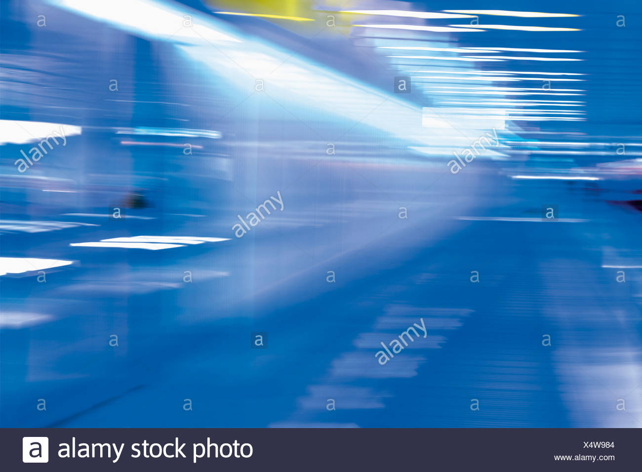 Germany, Bavaria, Munich, Abstract pattern of neon lights - Stock Image