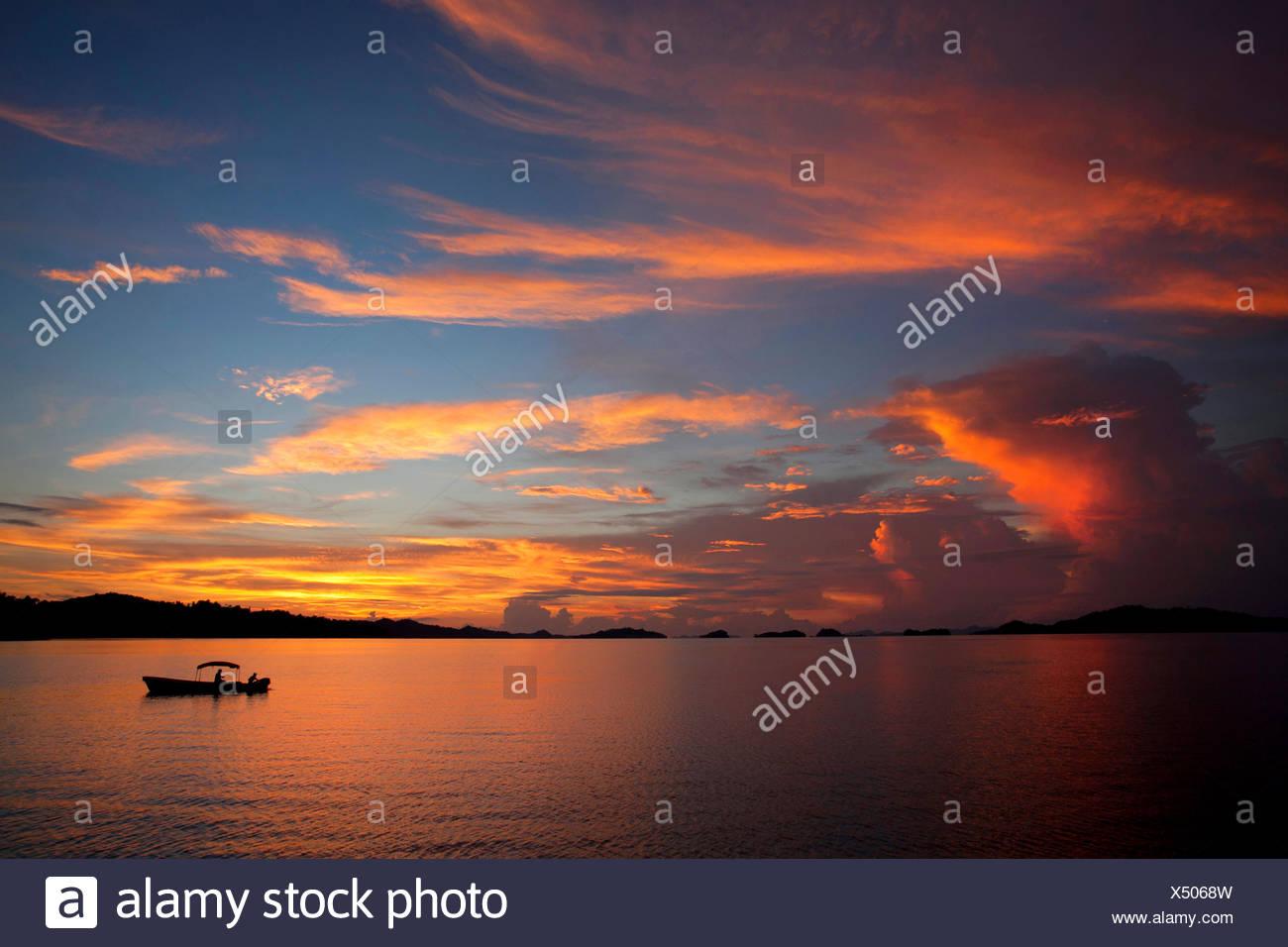 Indonesia, West Papua, Pulau Misool, Misool Island, Evening Calm - Stock Image