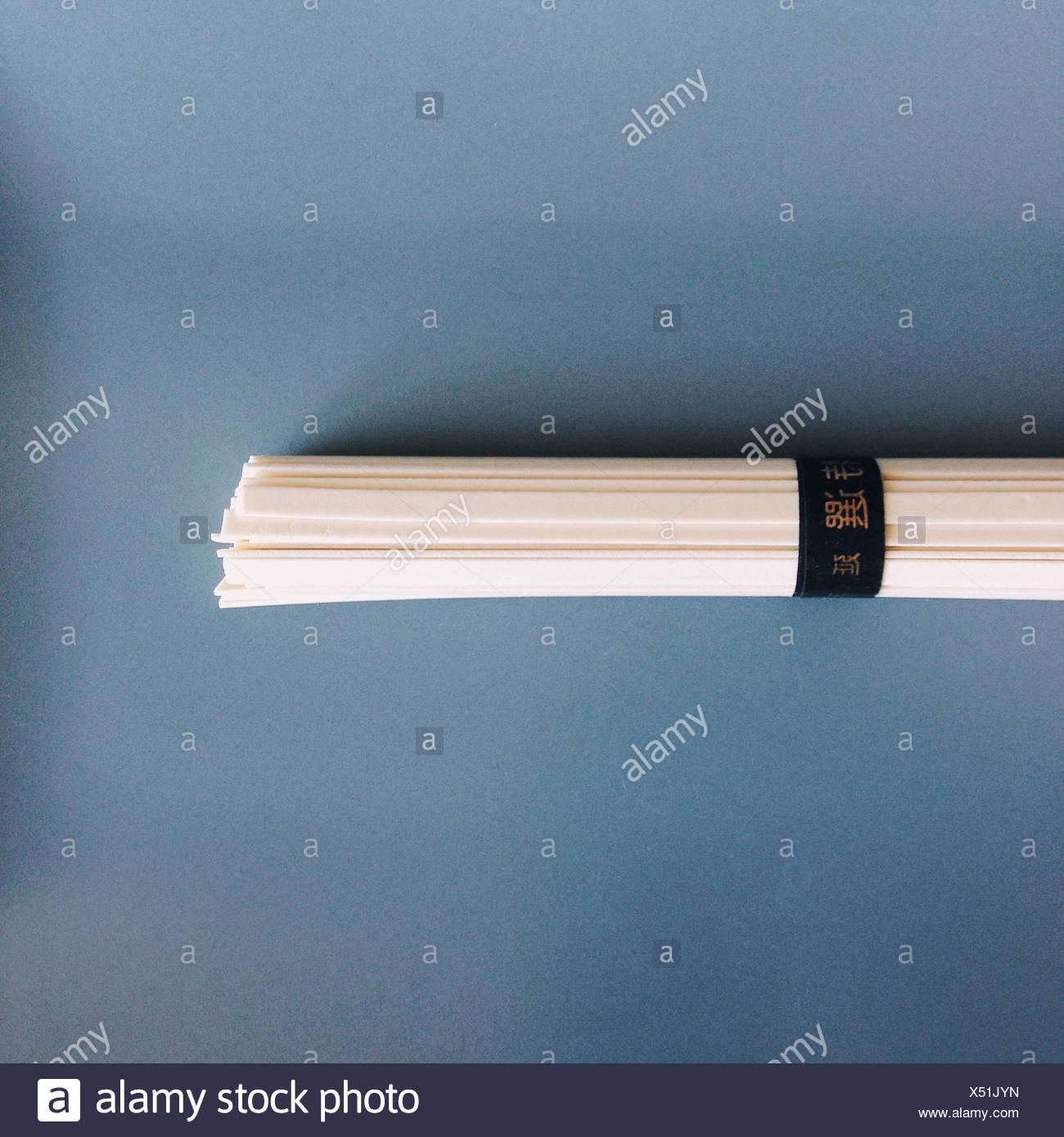 Close-up Bundle of japanese noodles - Stock Image