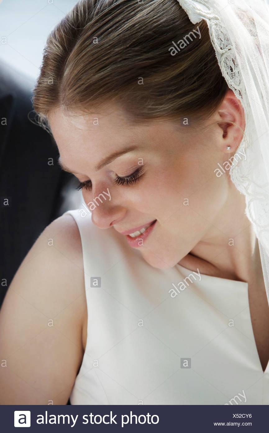 Timid bride - Stock Image
