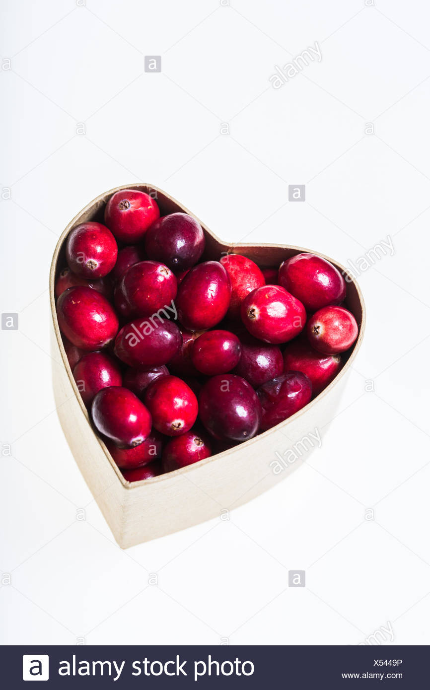 Fresh cranberries. - Stock Image