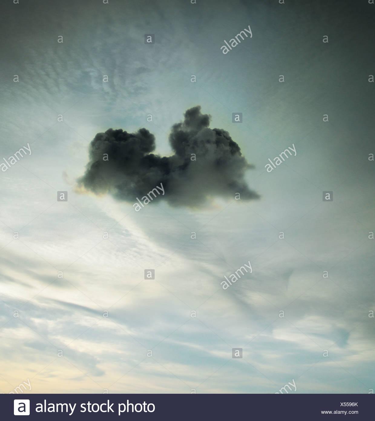 little black cloud - Stock Image