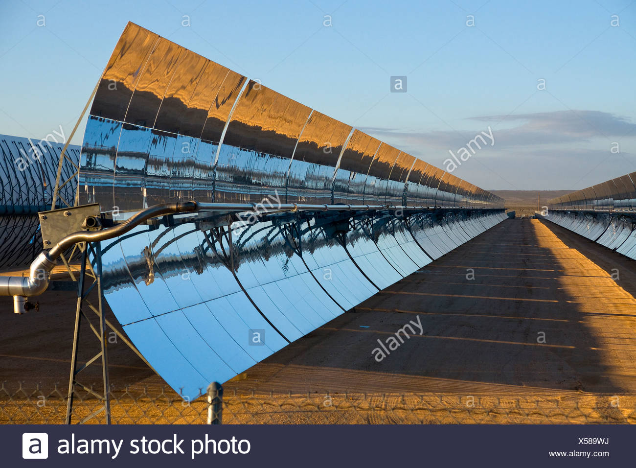 A solar power plant - Stock Image