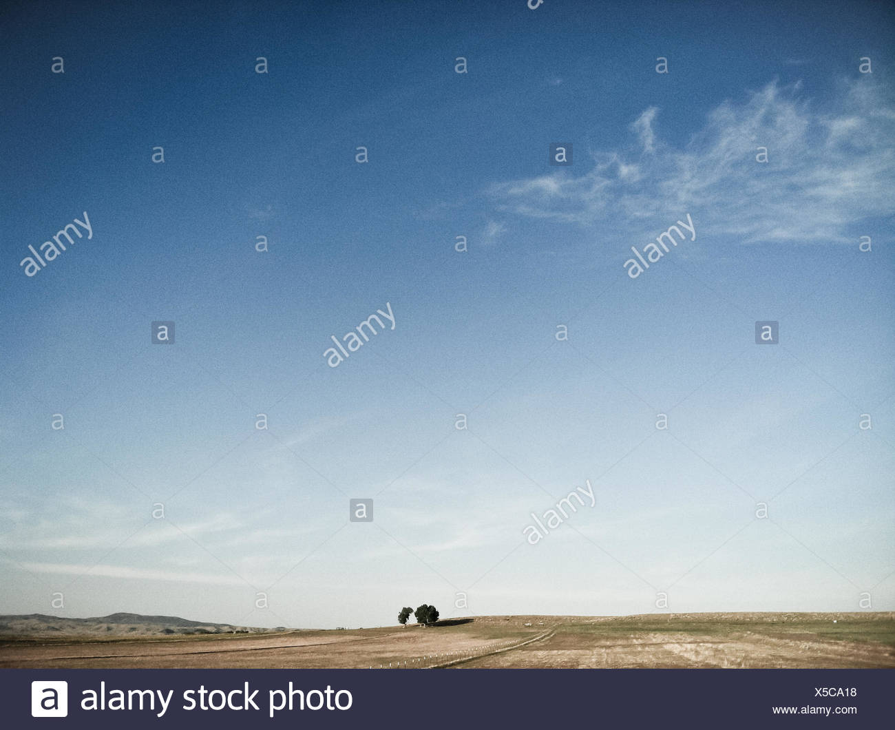 Isolated landscape - Stock Image