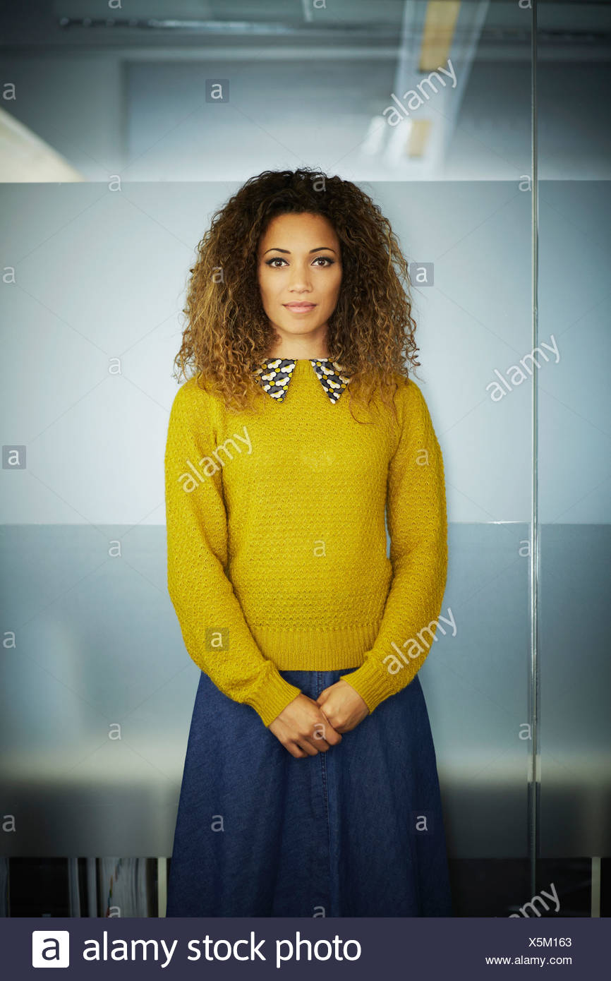 Portrait of female office worker - Stock Image