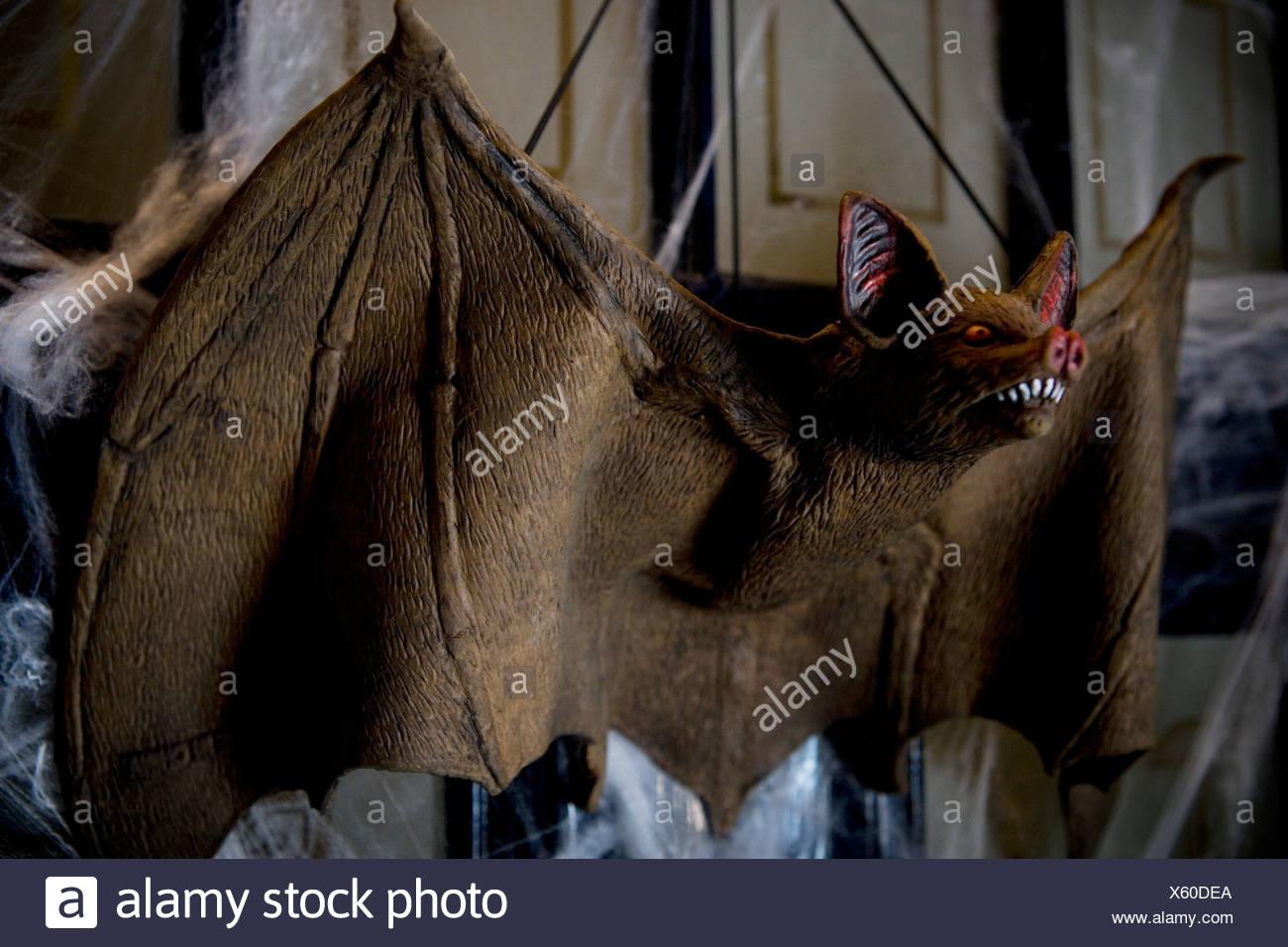 halloween decorations - toy vampire bat stock photo: 279064418 - alamy