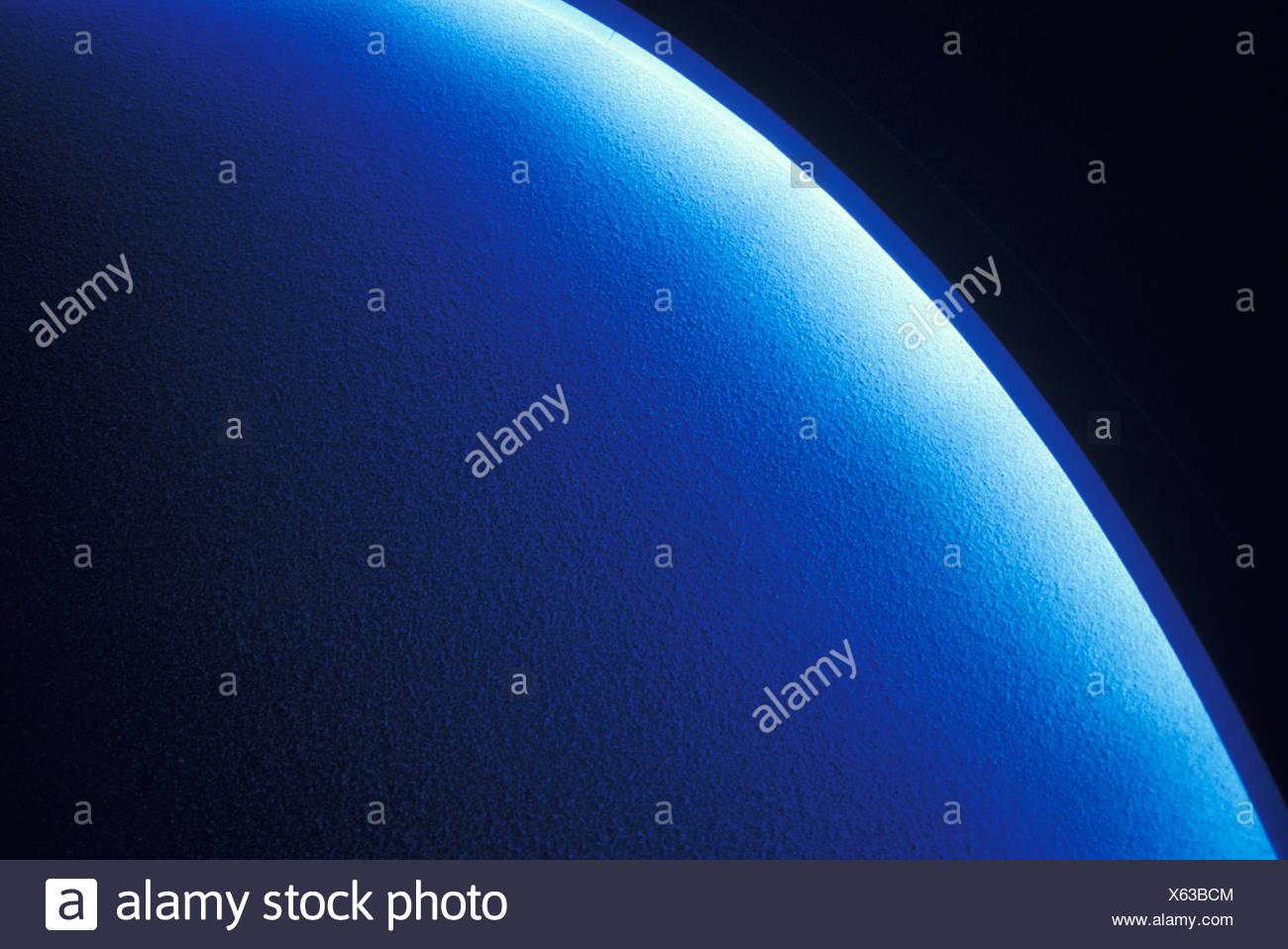 Blue material, long exposure - Stock Image