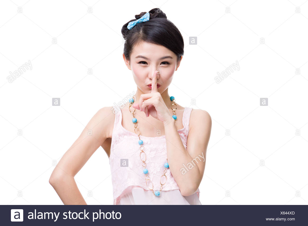 Cute young woman - Stock Image