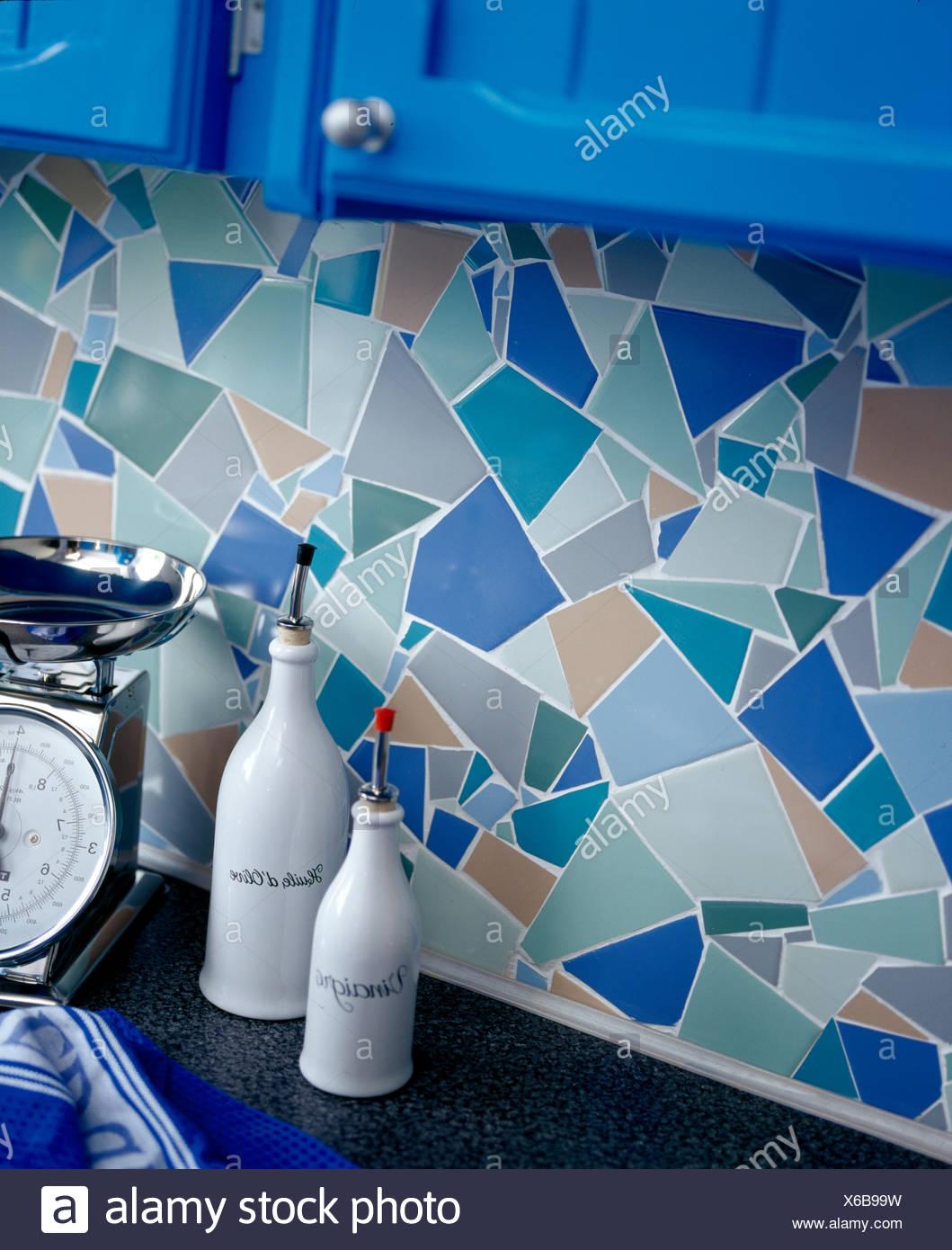 Detail of mosic patterned tiling splashback Stock Photo: 279302629 ...