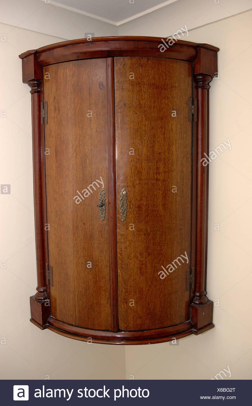 Close-up of antique corner cupboard - Close-up Of Antique Corner Cupboard Stock Photo: 279307920 - Alamy