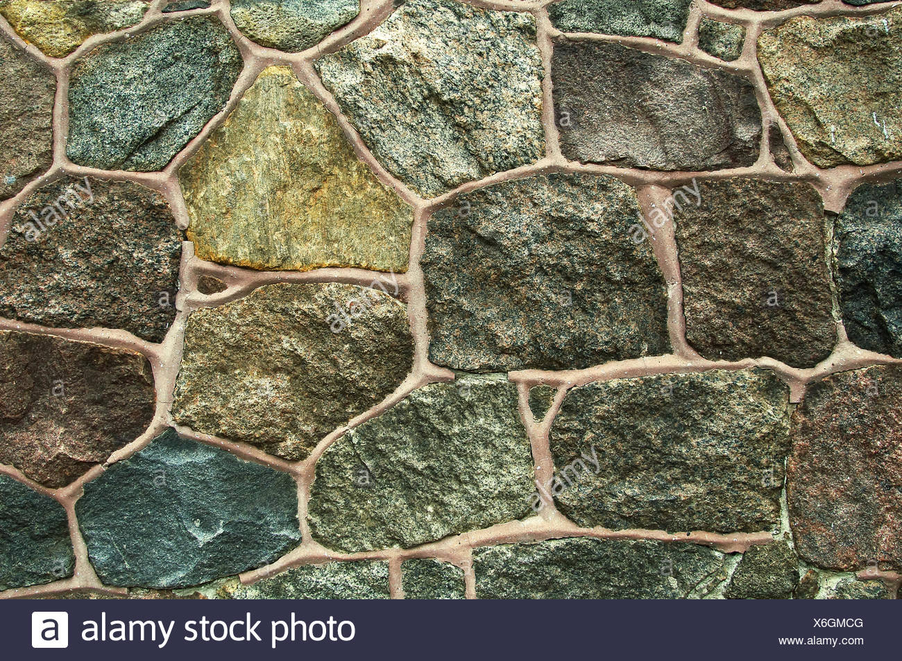 feldsteinmauer / fieldstone wall stock photo: 279421088 - alamy