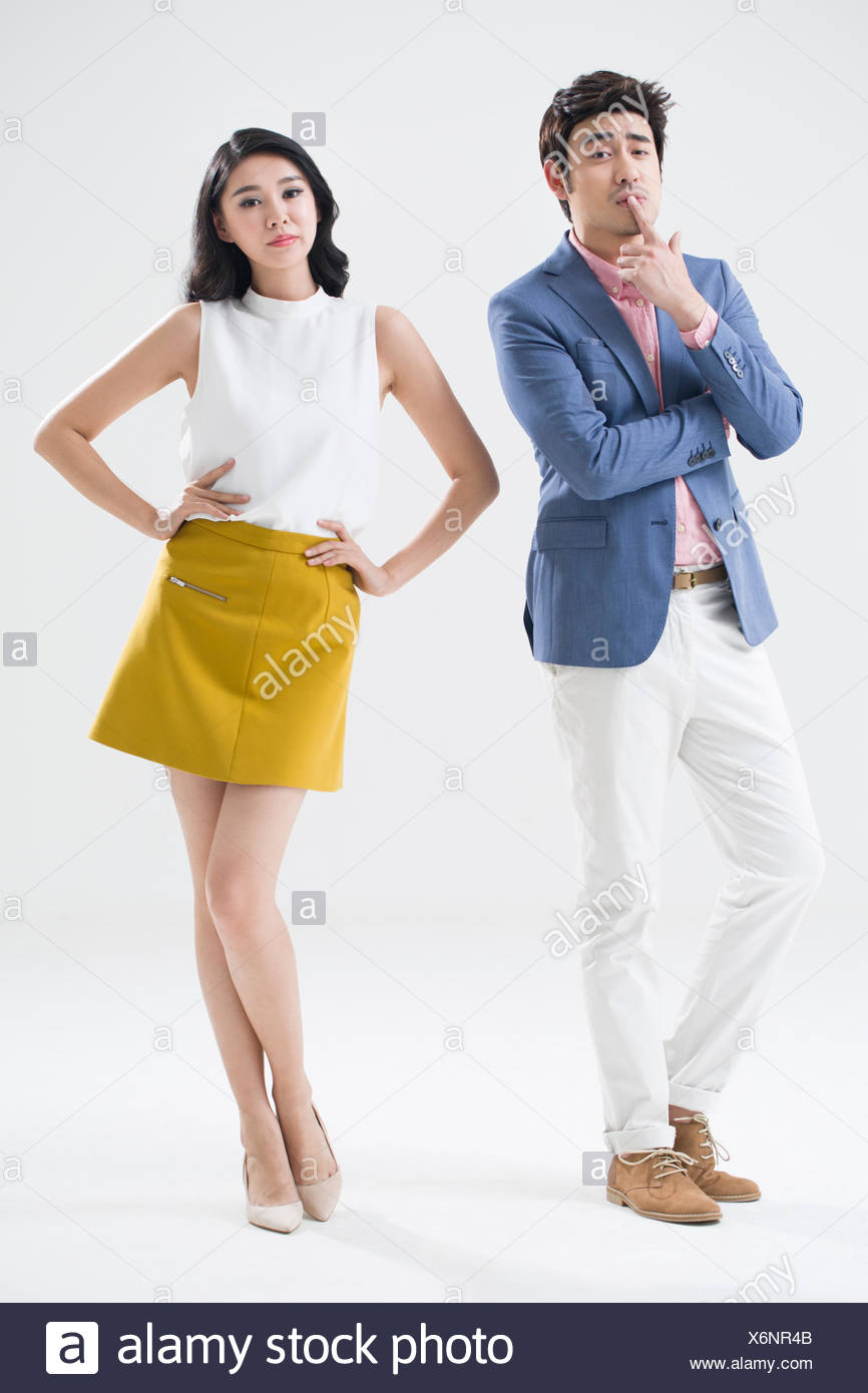 Fashionable young couple - Stock Image