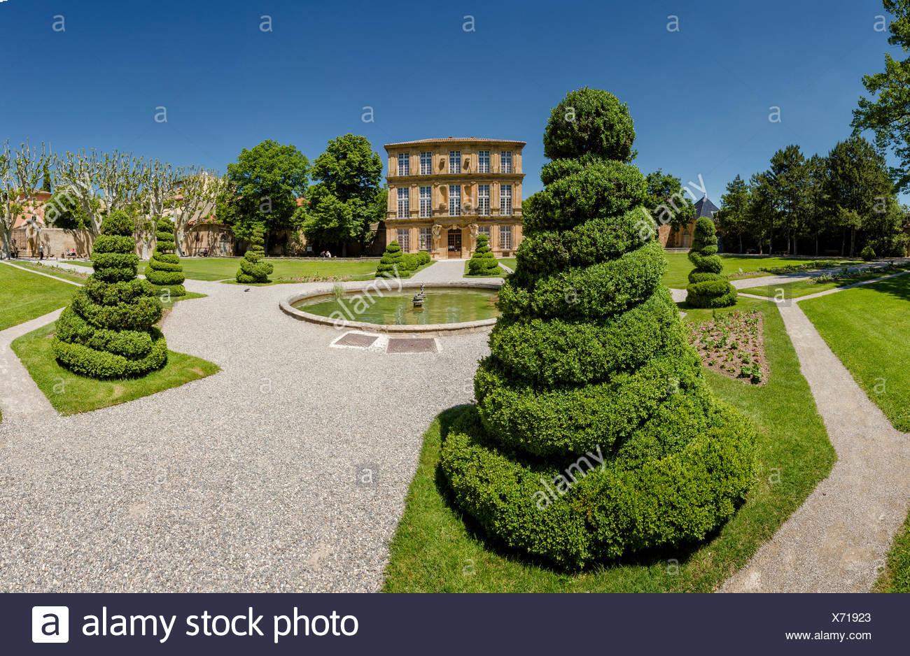 Parc Vendome, castle, spring, garden, park, Aix en Provence, Bouches du Rhone, France, Europe, - Stock Image