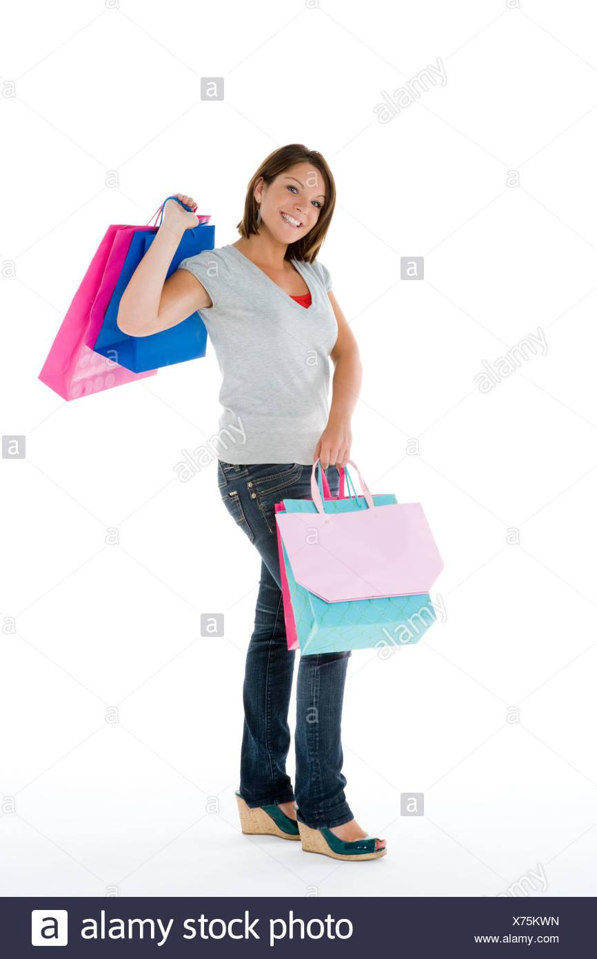 Portrait Of A Teenage Girl - Stock Image