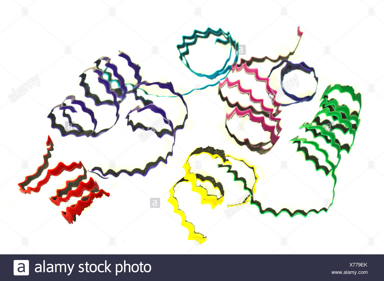 Colorful pencils clippings - Stock Image