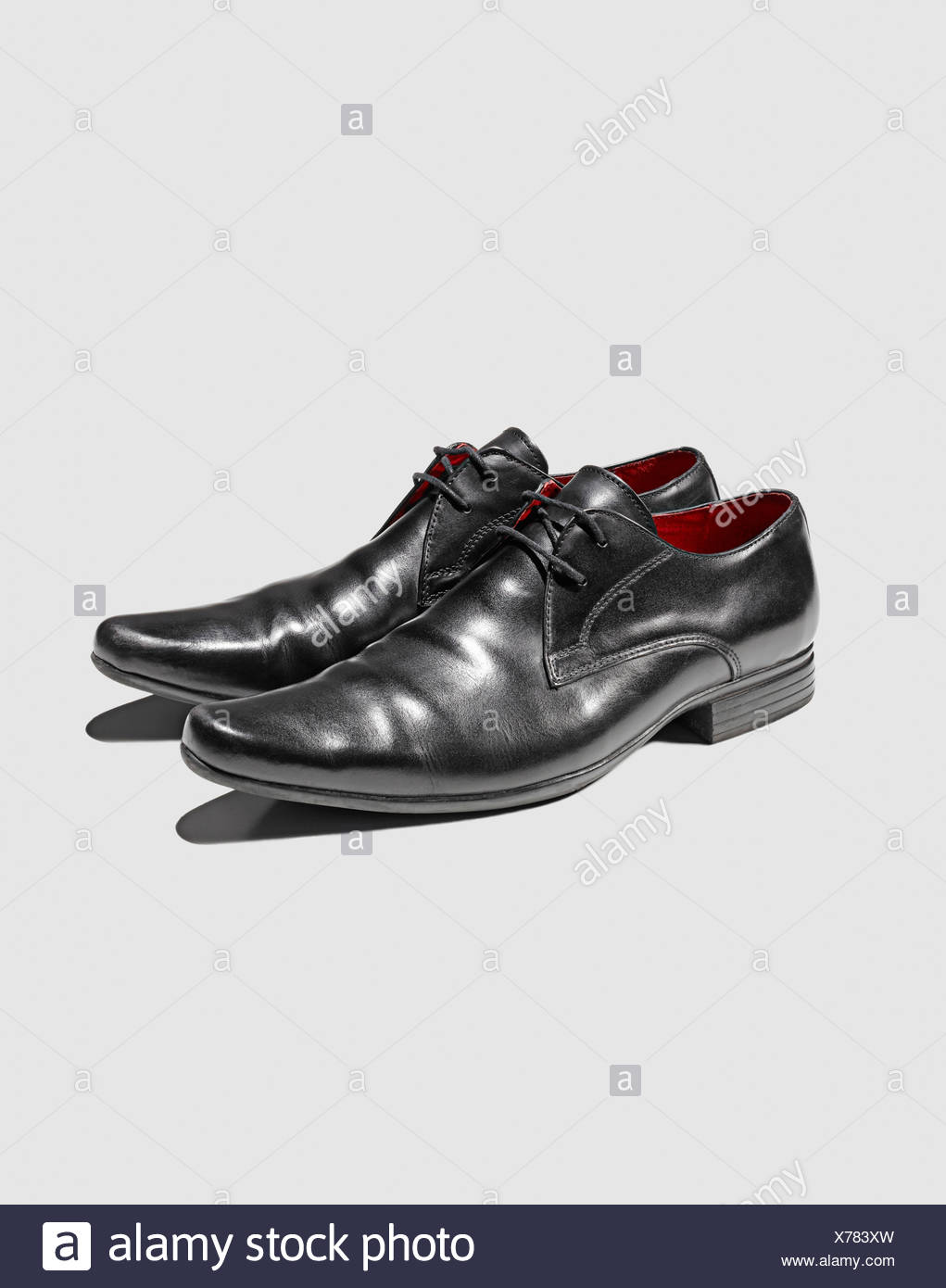 Close up of mans dress shoes - Stock Image