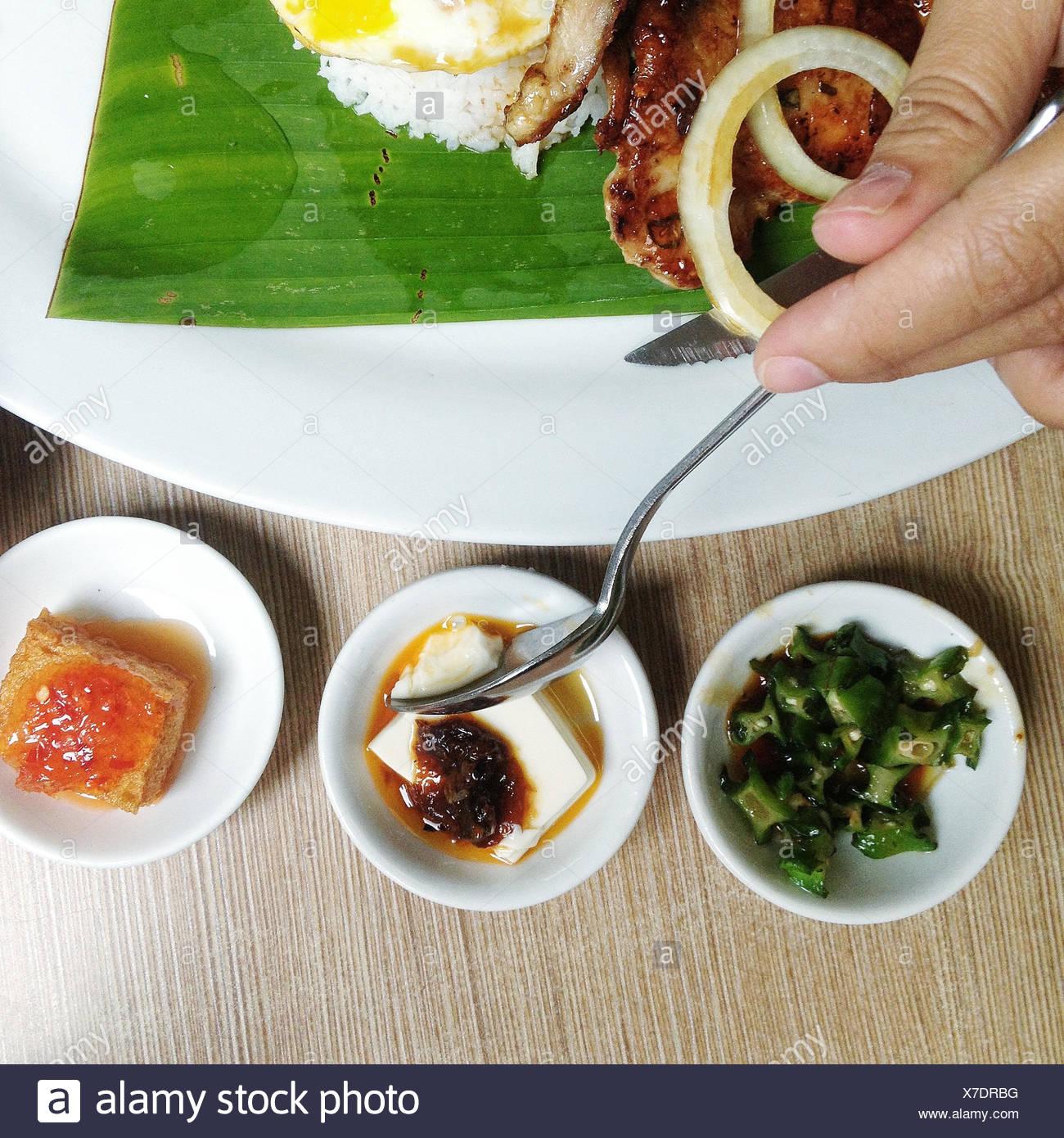 Malaysia, Kuala Lumpur, Traditional asian food - Stock Image