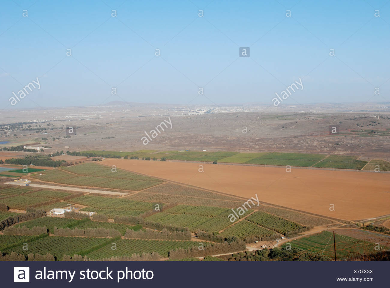 Israel, Golan Heights, The Valley of Tears (Emek Habacha) on the Syrian border - Stock Image