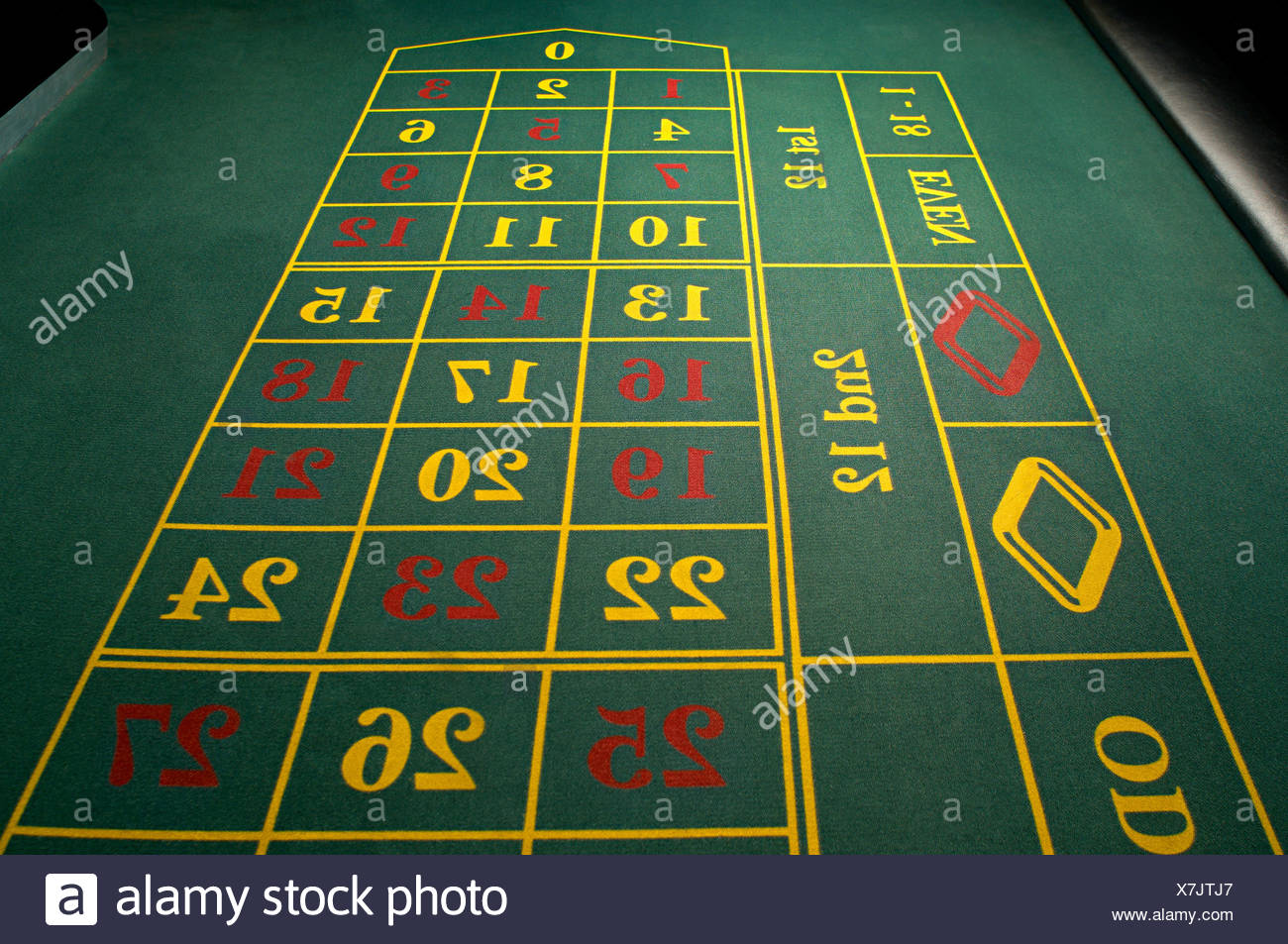 Empty roulette table - Stock Image