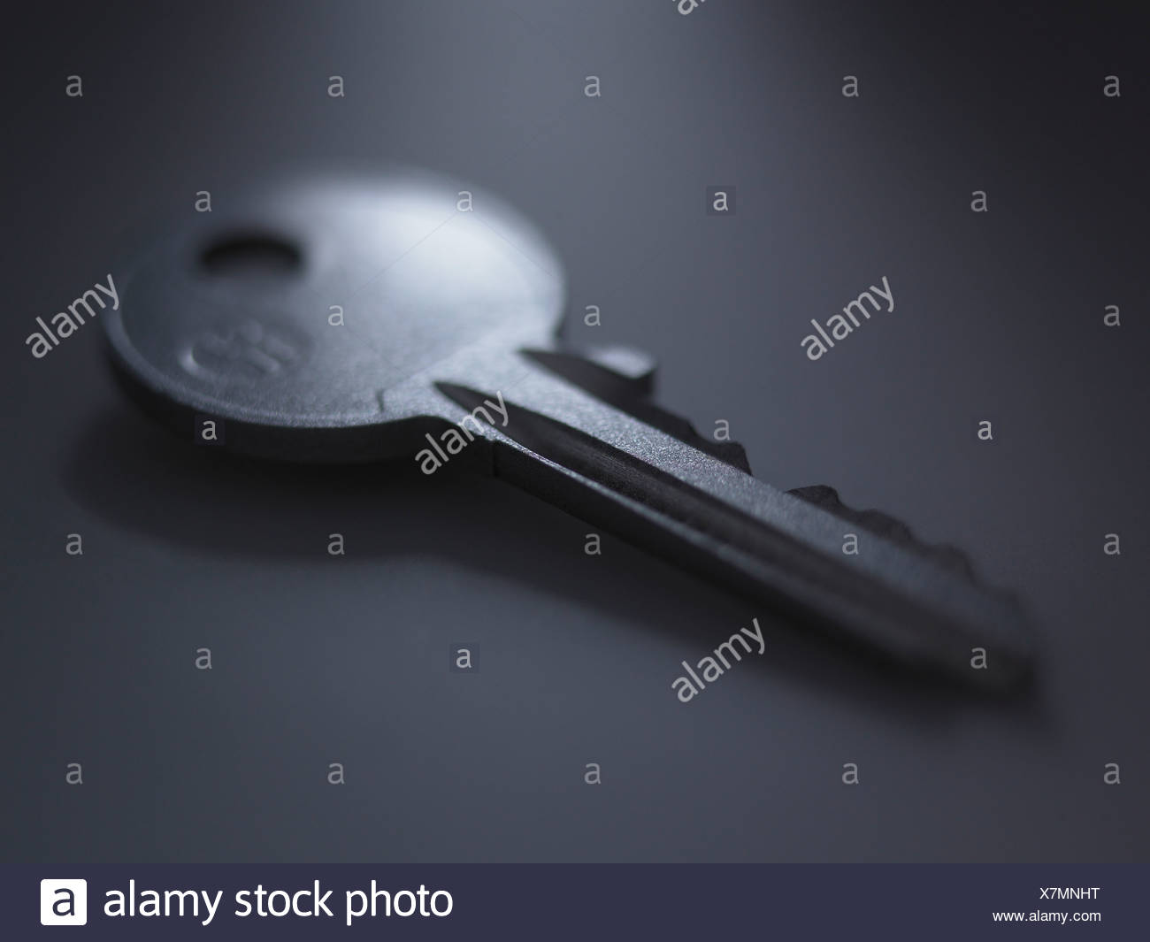 Close up of metal key - Stock Image