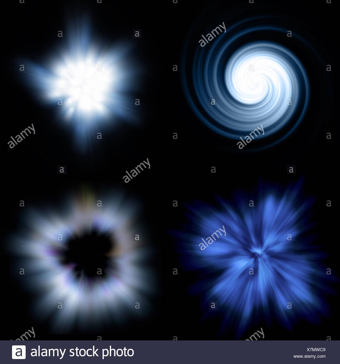 galaxy explosion - Stock Image