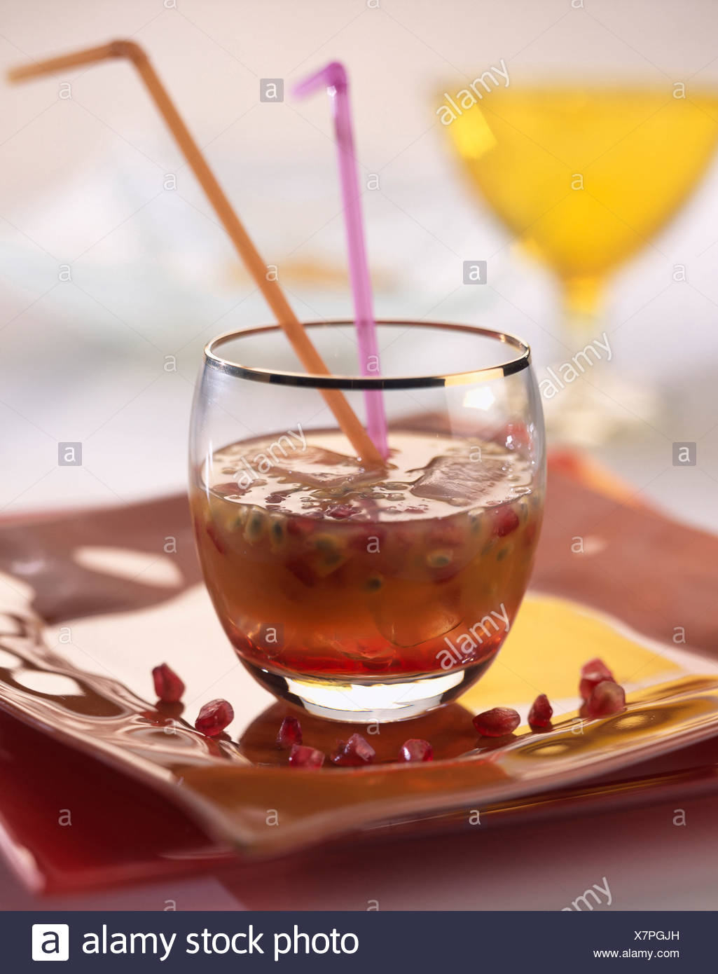 Non-alcoholic cocktail - Stock Image