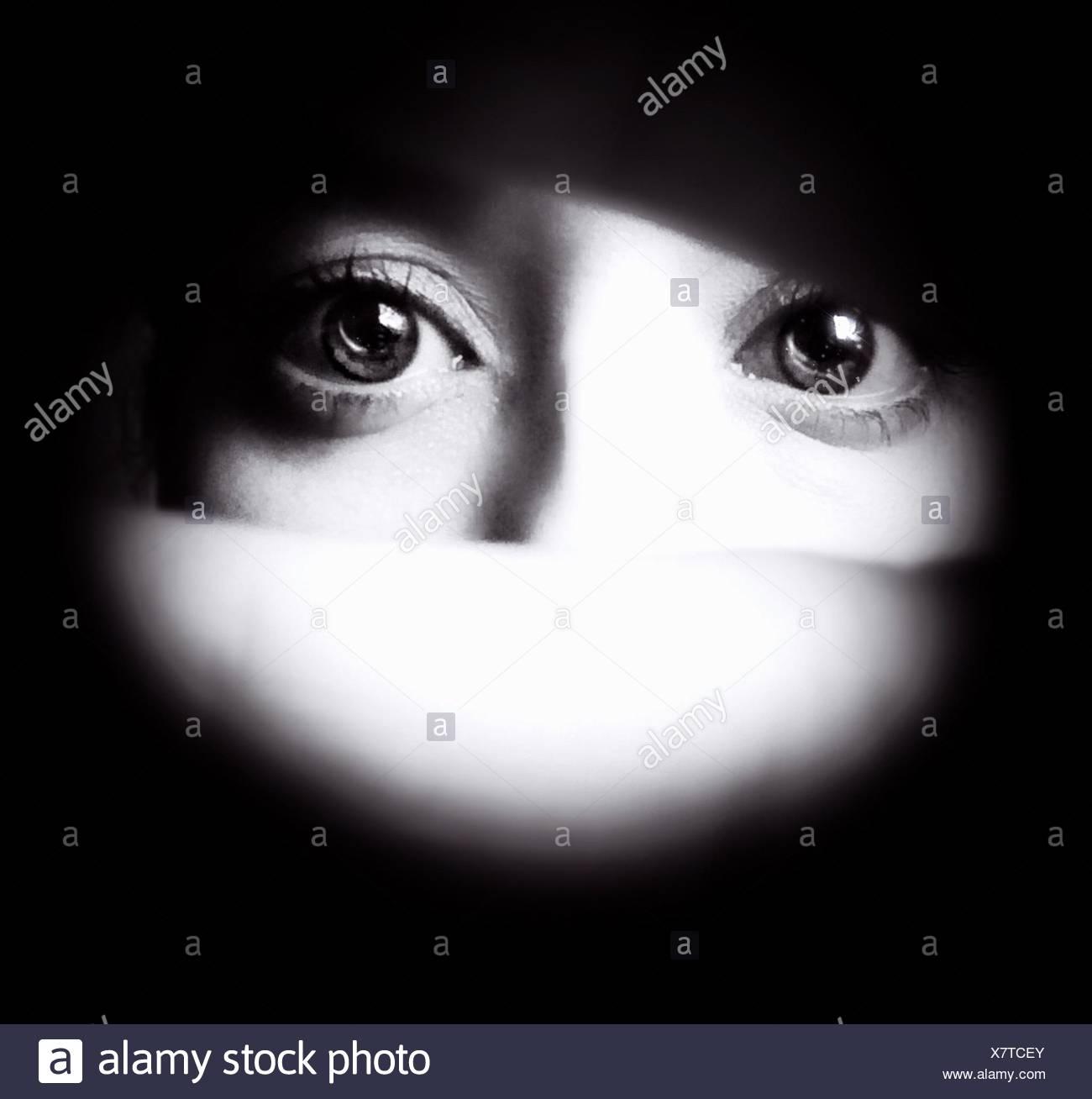 Detail Of Human Eyes - Stock Image