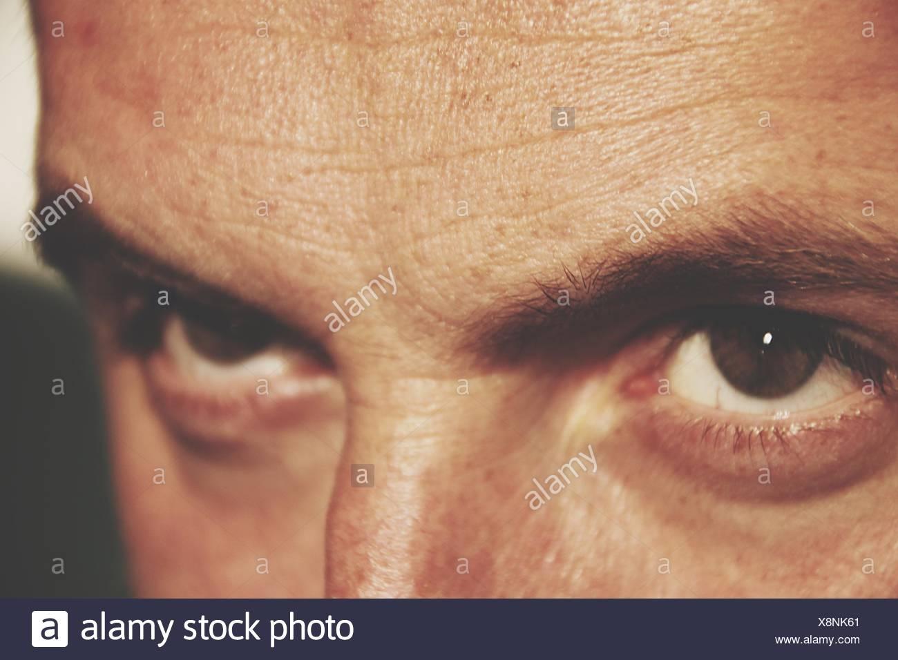 Close-Up Of Man Eyes - Stock Image