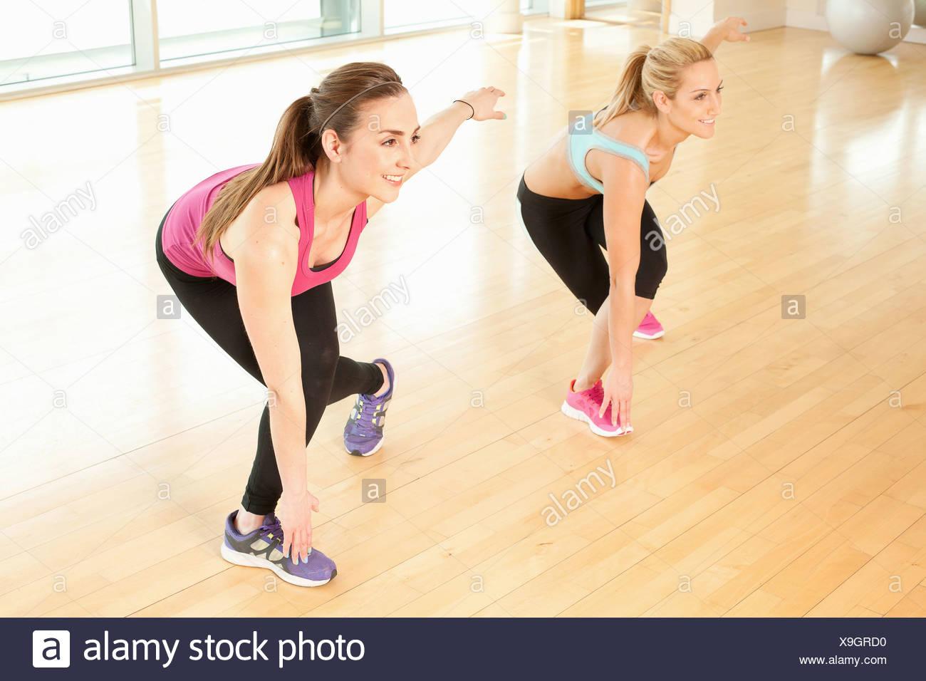 Women doing fitness class - Stock Image