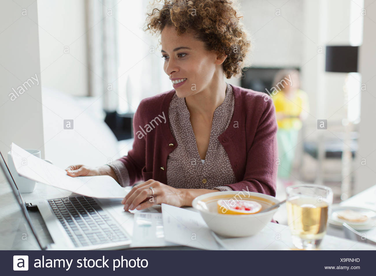 woman paying bills online at home stock photo 281419641 alamy rh alamy com online at home business online at home jobs part time