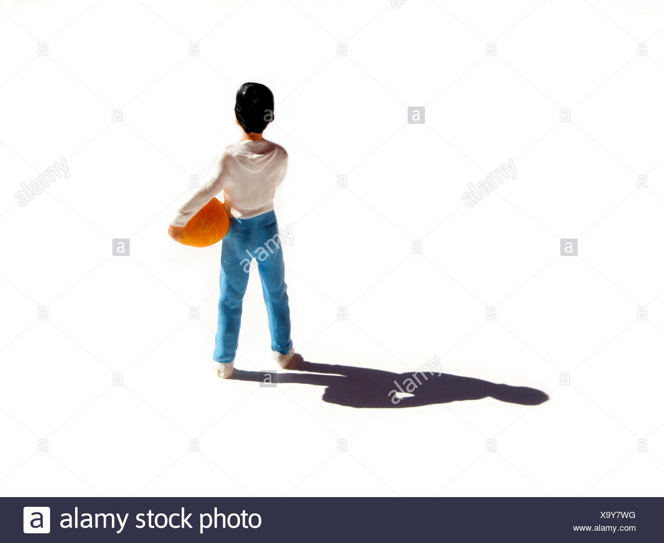 Small toy figure of child - Stock Image