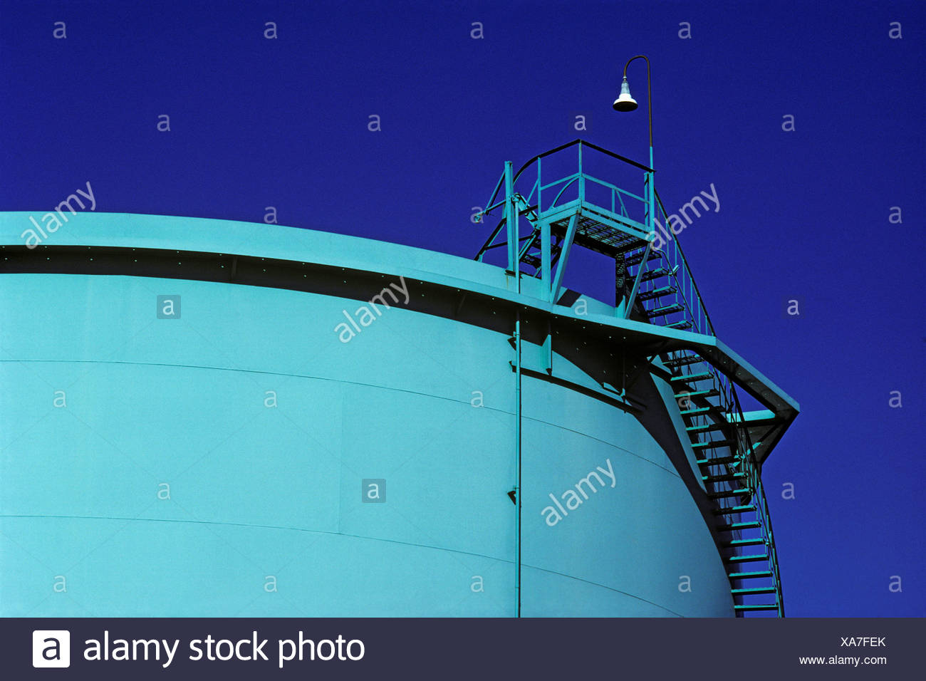 An Oil Storage Tank Stairs Designer Colored Long Beach California. As  Incidental Byproduct Their Function Aesthetic Grace