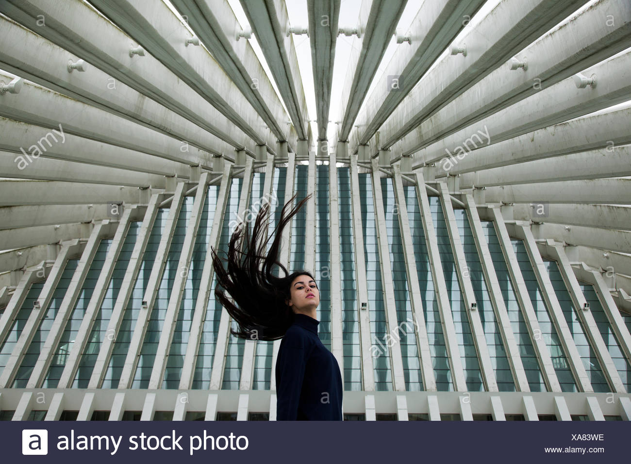 Young woman shaking her head - Stock Image