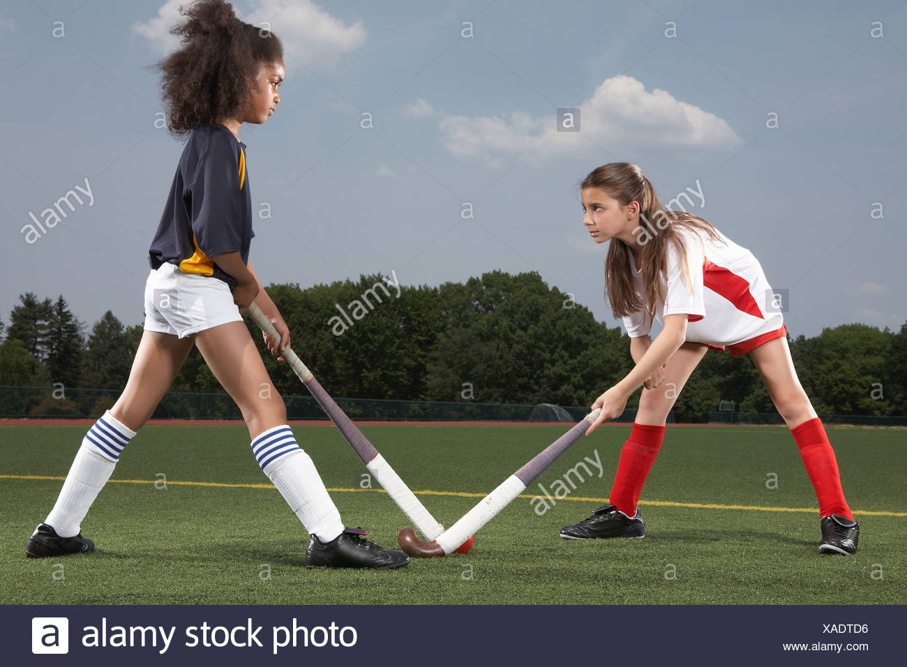 Rival hockey players - Stock Image