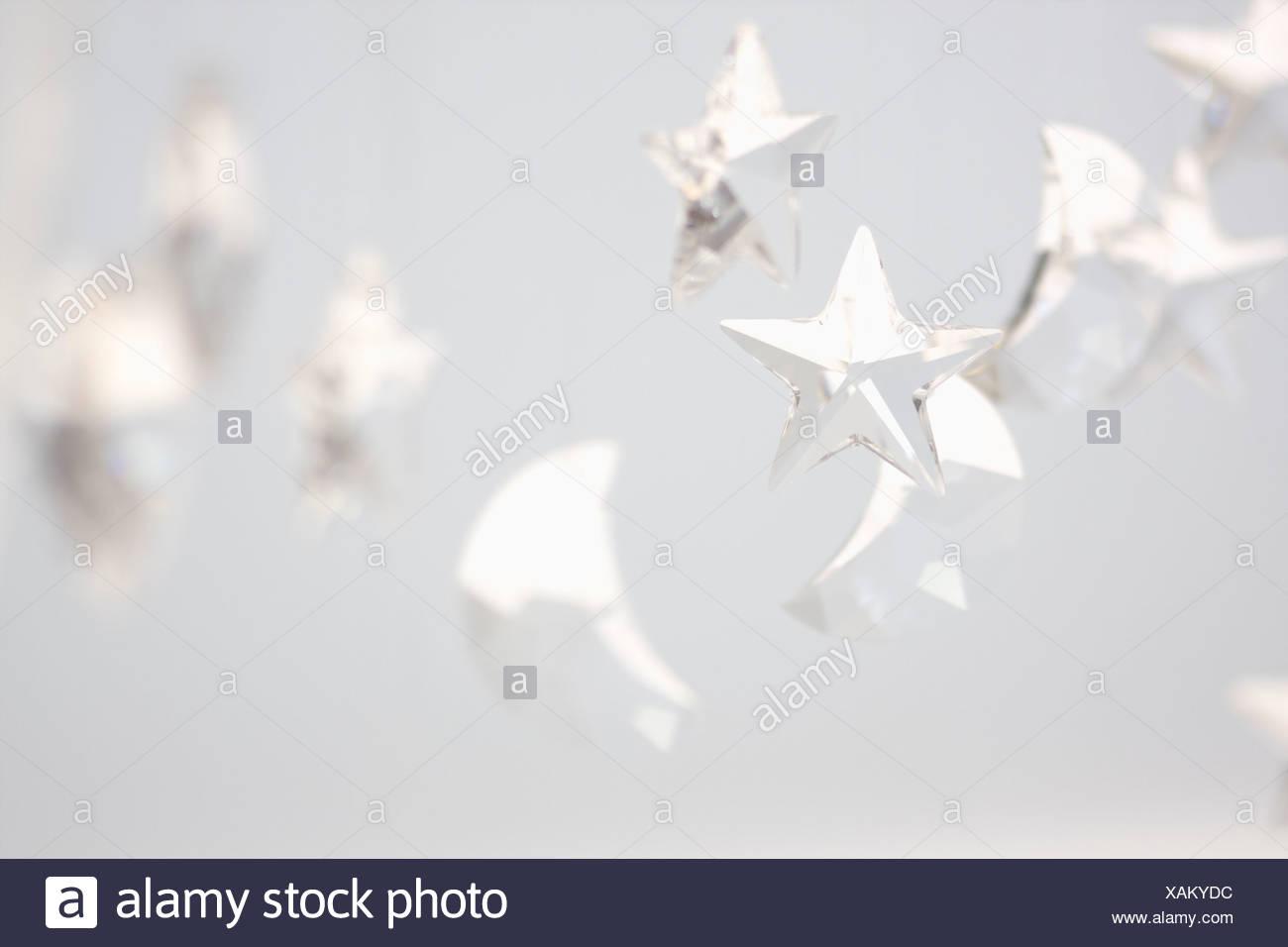 Crystalline Moon and Stars - Stock Image