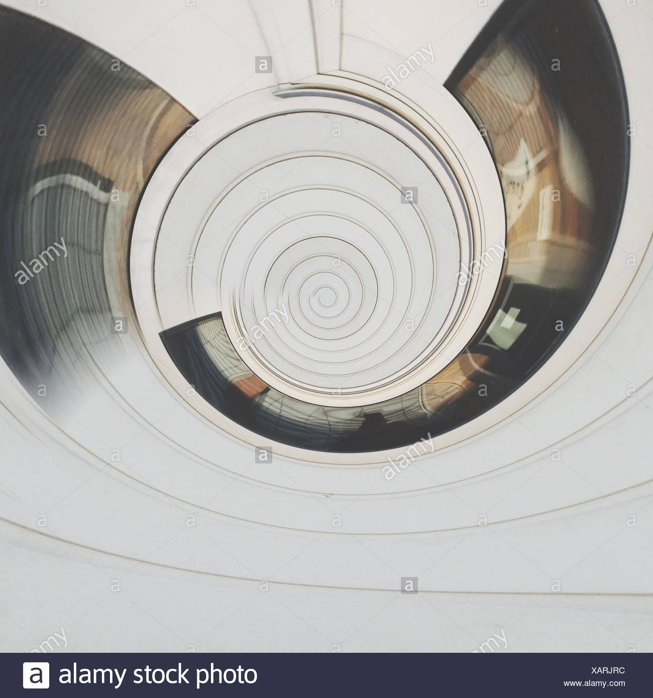 Digital Composite Of Abstract Spiral White Pattern - Stock Image