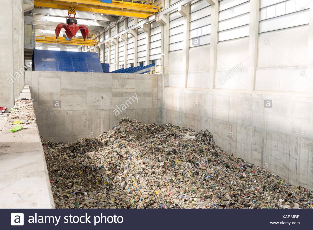 Waste management facility - Stock Image