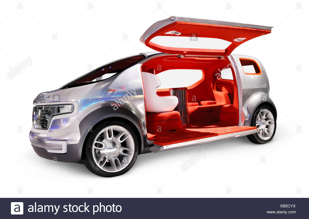 Ford Airstream, futuristic crossover concept car powered by HySeries Drive plug-in hydrogen hybrid fuel cells - Stock Image