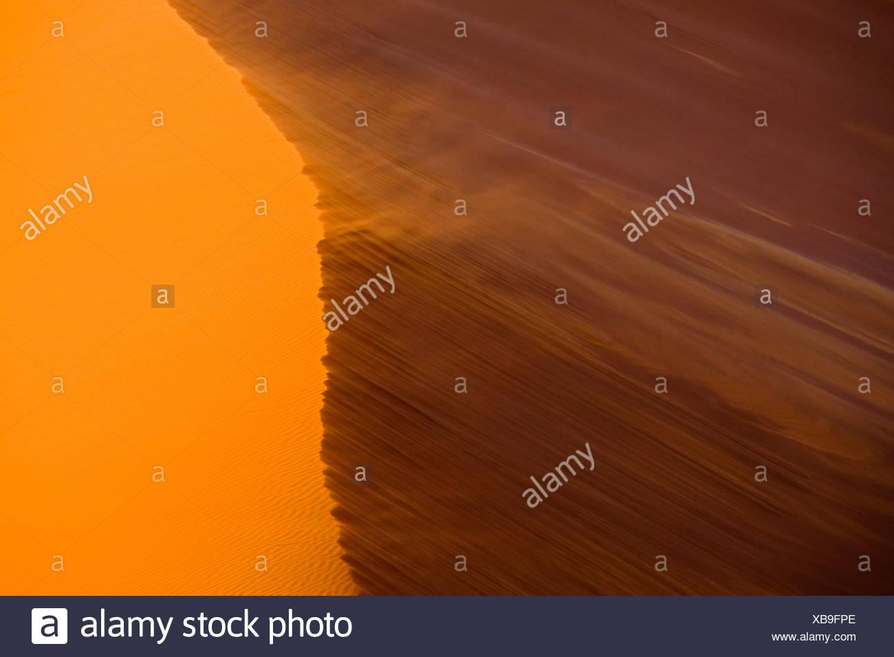 Africa, Namibia, Namib Desert, Dune 45, Sand storm - Stock Image