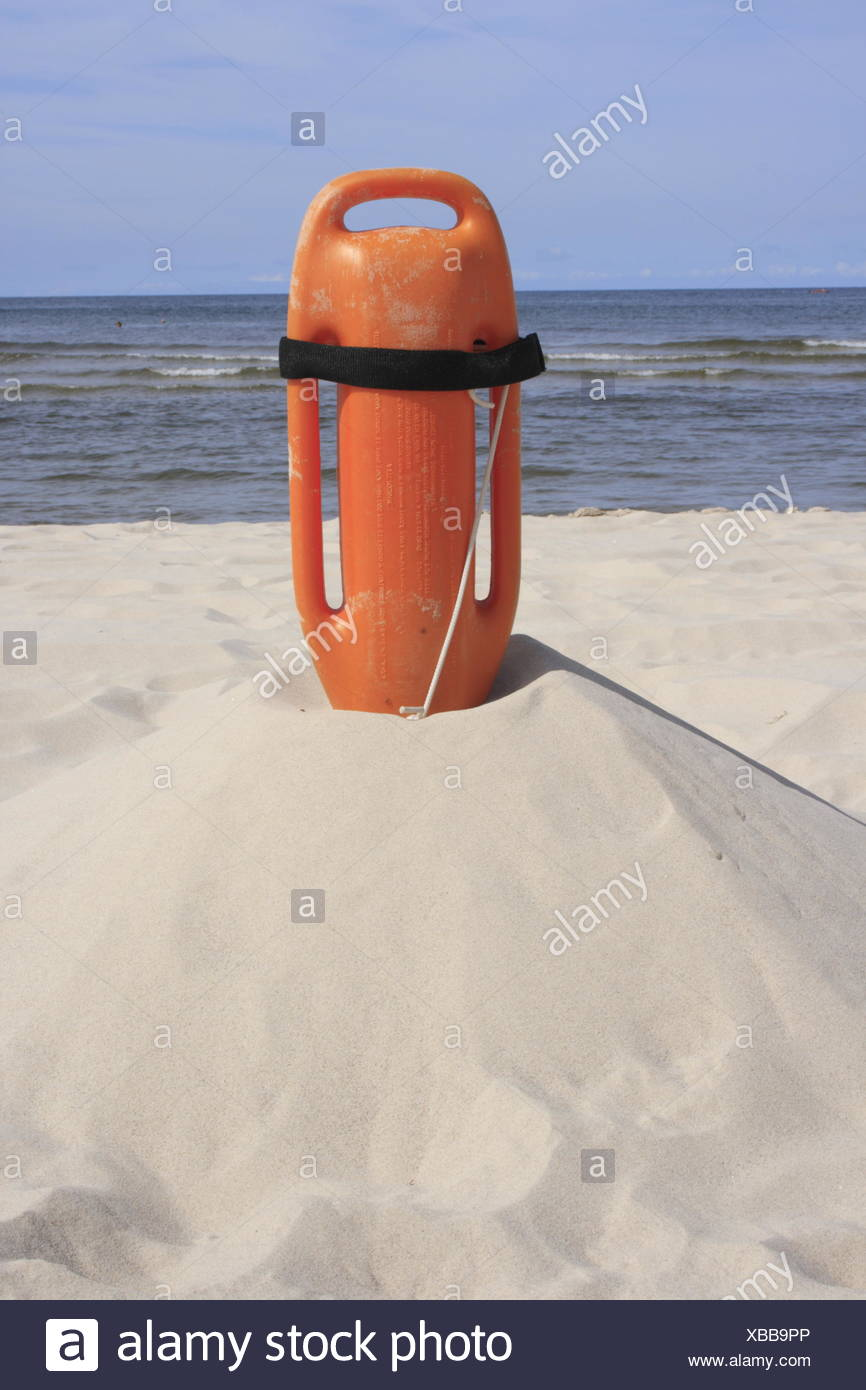 float of Baywatch, Baltic Sea, Germany - Stock Image