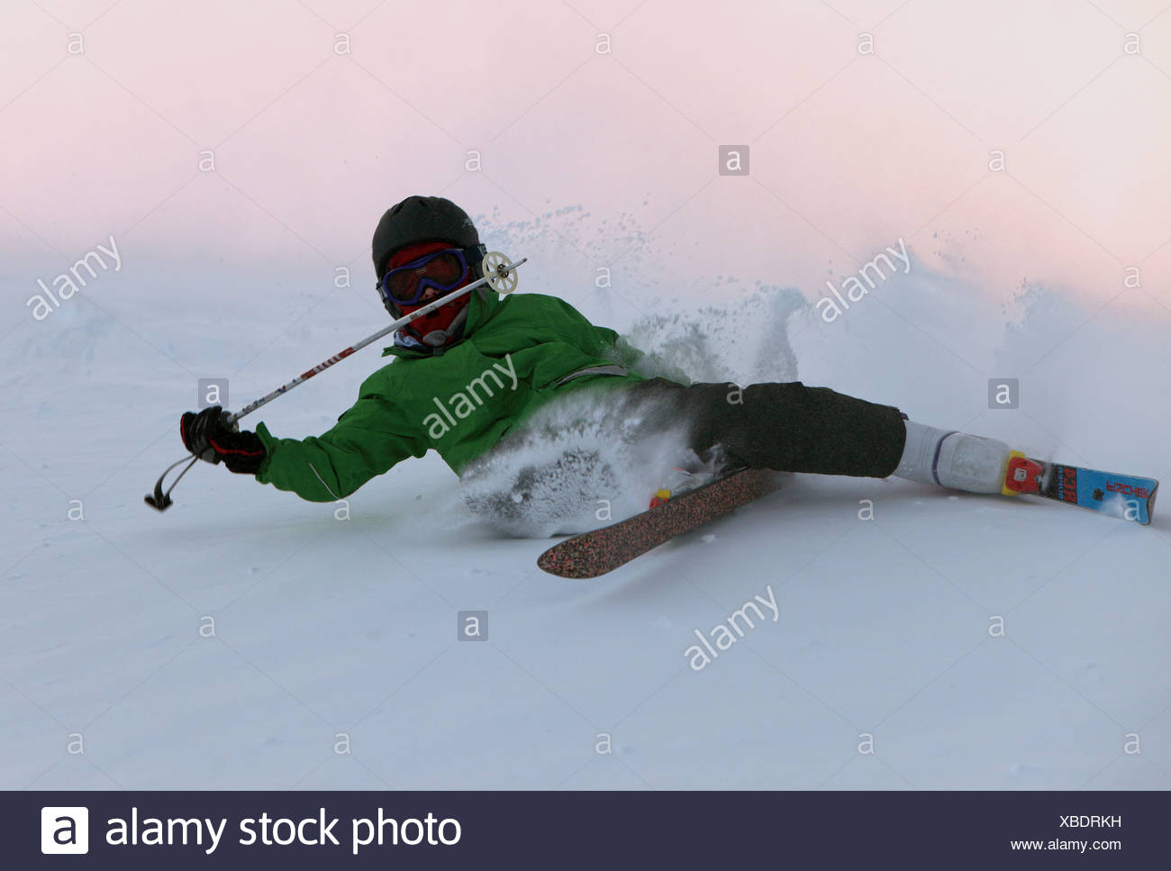 Krippenbrunn, Austria, is a boy crashed while skiing - Stock Image