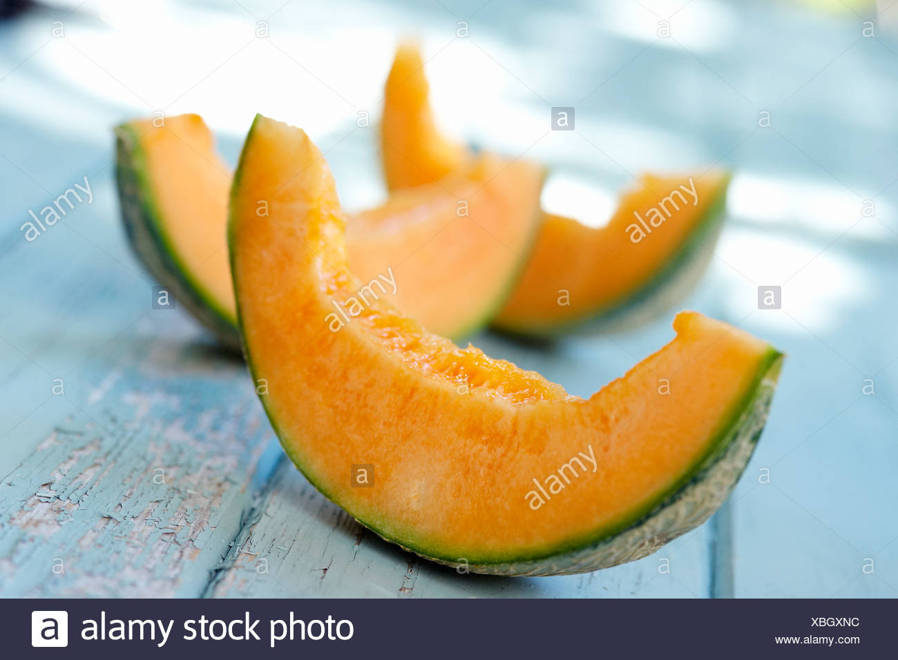 Slices of melon - Stock Image