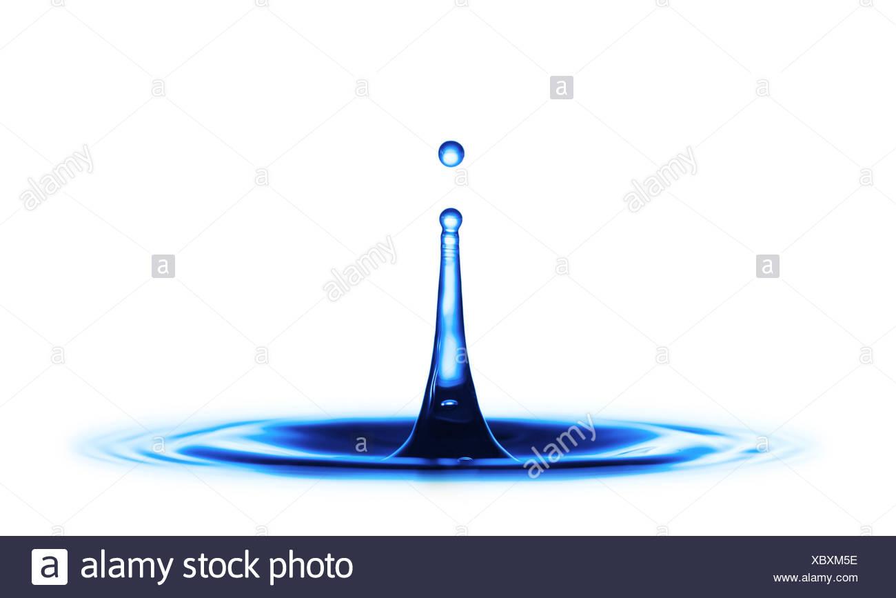 Water drop impact - Stock Image