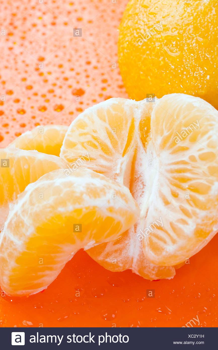 Fresh tangerines - Stock Image