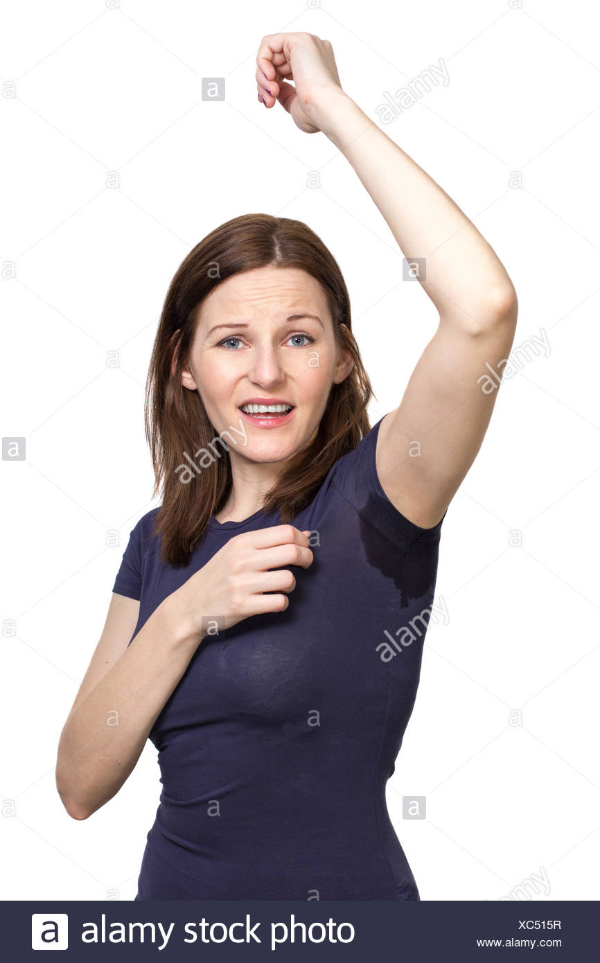 picture of woman sweating