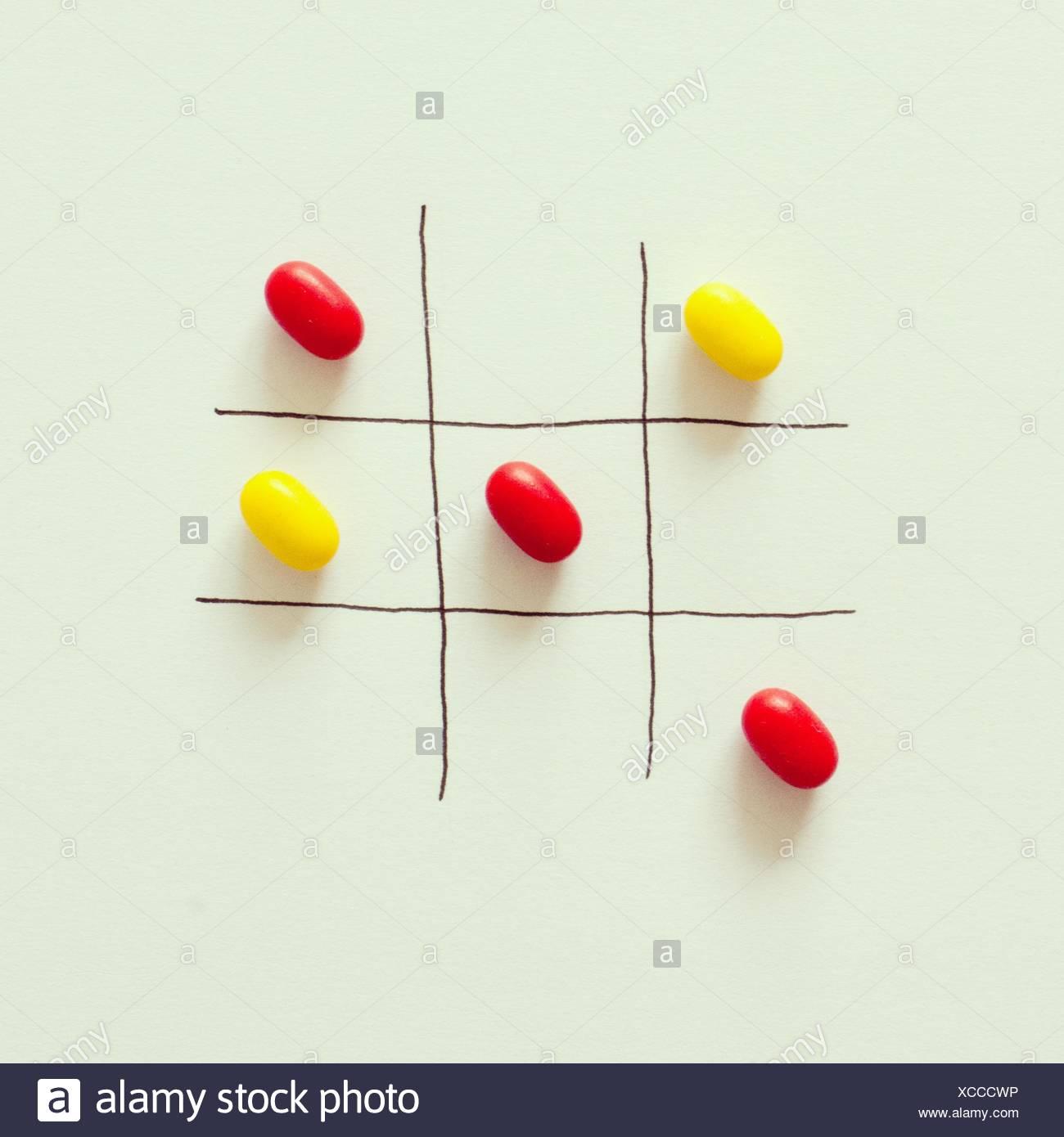 Tic-tac-toe game - Stock Image