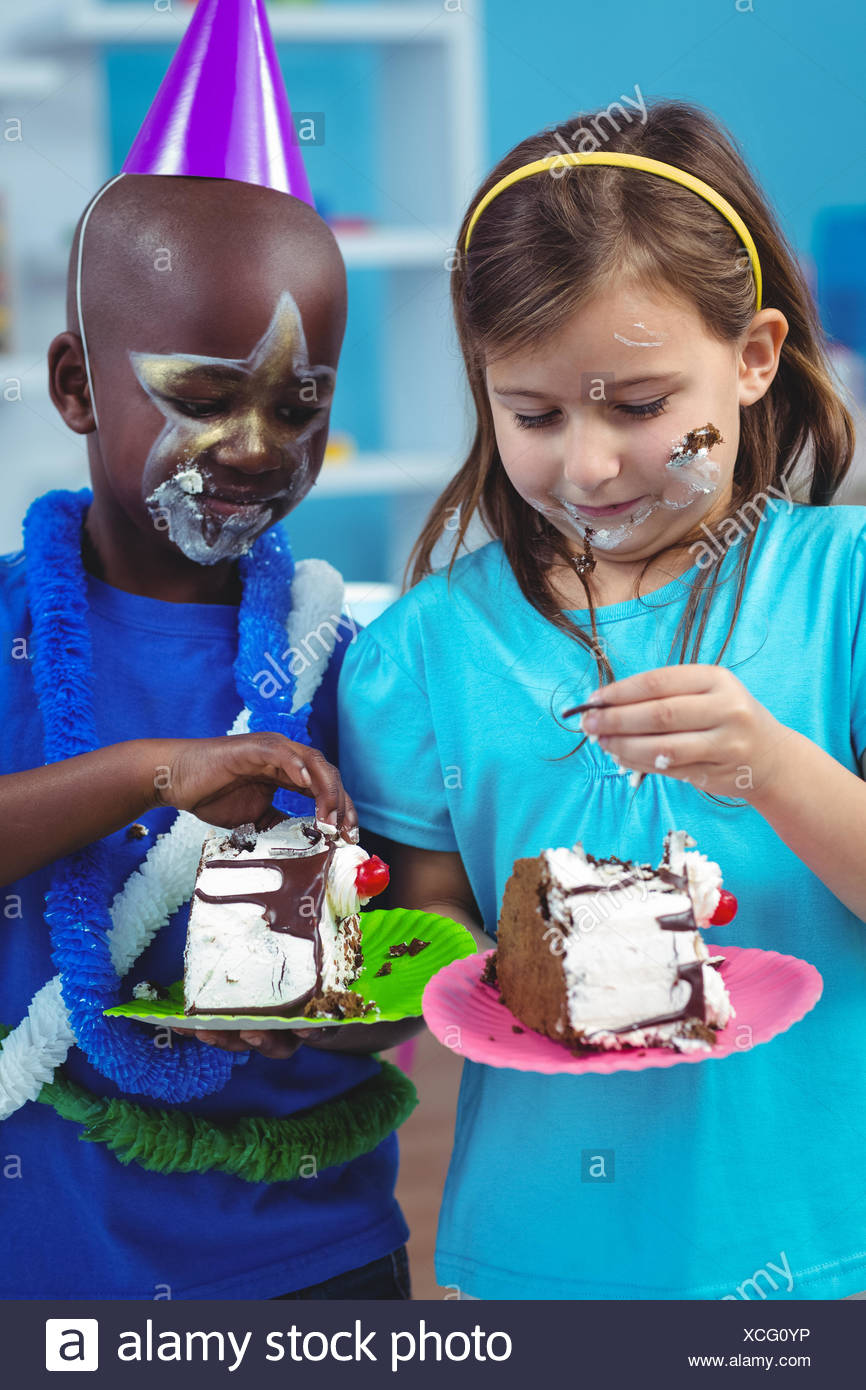 Black Boy Eating Cake Stock Photos Black Boy Eating Cake Stock