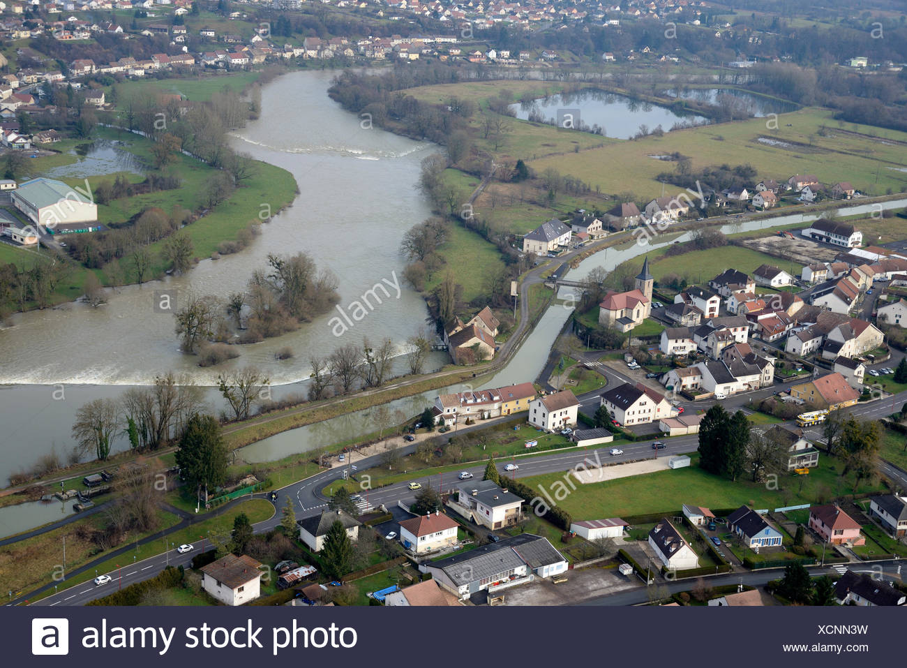Doubs Valley Dampierre - Franche-Comté France - Stock Image