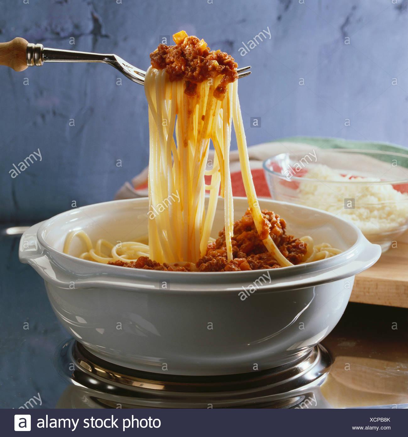 Spaghetti Alla Bolognese Spaghetti With Mince Sauce Stock Photo
